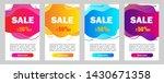 set of dynamic abstarct... | Shutterstock .eps vector #1430671358