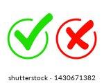 check mark icon set. green tick ... | Shutterstock .eps vector #1430671382