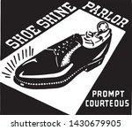 shoe shine parlor   retro clip... | Shutterstock .eps vector #1430679905