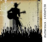 blues guitar concert  poster or ... | Shutterstock . vector #143069158