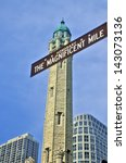 the magnificent mile sign with... | Shutterstock . vector #143073136