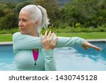 side view of active senior...   Shutterstock . vector #1430745128