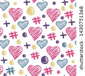 hearts elements seamless... | Shutterstock .eps vector #1430751368