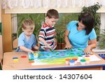teacher two preschoolers and... | Shutterstock . vector #14307604