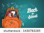 back to school with school...   Shutterstock .eps vector #1430783285