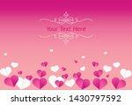 valentine heart pink color... | Shutterstock .eps vector #1430797592