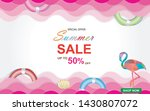 summer sale vector illustration.... | Shutterstock .eps vector #1430807072