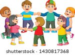 the children are holding to...   Shutterstock .eps vector #1430817368