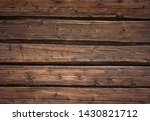 Rough outdoor wood wall background - stock photo