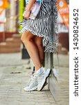 women's legs of in fashionable... | Shutterstock . vector #1430824652