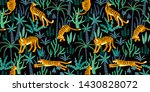 seamless exotic pattern with... | Shutterstock . vector #1430828072
