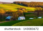 Home And Barn On The Farm...