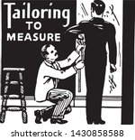 tailoring to measure   retro ad ... | Shutterstock .eps vector #1430858588