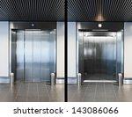 elevator doors open and closed