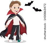 little boy in vampire costume.... | Shutterstock .eps vector #1430863472
