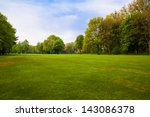 green field and trees. | Shutterstock . vector #143086378