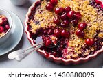 cherry  red berry crumble in... | Shutterstock . vector #1430880095