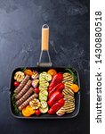 grilled meat kebab and... | Shutterstock . vector #1430880518