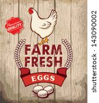 retro fresh eggs poster design... | Shutterstock .eps vector #143090002