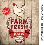 Retro Fresh Eggs Poster Design...