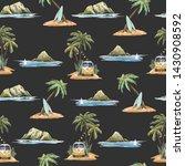 watercolor summer tropical... | Shutterstock . vector #1430908592