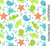 seamless pattern multicolored... | Shutterstock .eps vector #143090866