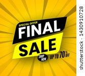 final sale banner on striped...   Shutterstock .eps vector #1430910728