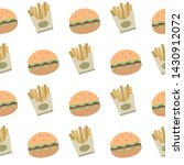 vector fast food icons seamless ... | Shutterstock .eps vector #1430912072
