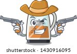 cowboy tea maker isolated with... | Shutterstock .eps vector #1430916095