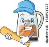 playing baseball tea maker... | Shutterstock .eps vector #1430916125