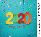 happy new year 2020. abstract... | Shutterstock . vector #1430958365