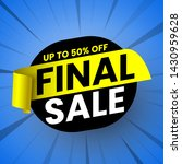 final sale banner with yellow... | Shutterstock .eps vector #1430959628