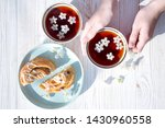 still life   cups of tea and... | Shutterstock . vector #1430960558