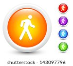 walking icons on round button... | Shutterstock .eps vector #143097796