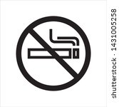 no smoking in trendy outline...