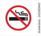 no smoking in trendy flat style ... | Shutterstock .eps vector #1431005465