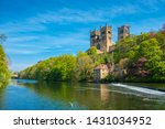 Durham Cathedral and River Wear in Spring in Durham, United Kingdom