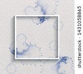 watercolor stylized frame in... | Shutterstock .eps vector #1431058865