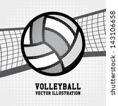 volleyball sport over dotted... | Shutterstock .eps vector #143106658