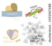 set of happy valentines day... | Shutterstock .eps vector #1431067688