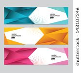 abstract header set | Shutterstock .eps vector #143107246