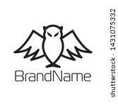 owl logo formed in simple lines | Shutterstock .eps vector #1431075332