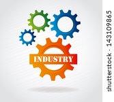 industry gears over gray... | Shutterstock .eps vector #143109865