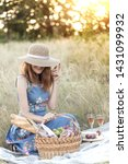 summer   provencal picnic in... | Shutterstock . vector #1431099932
