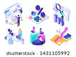financial audit. budget graph ... | Shutterstock .eps vector #1431105992