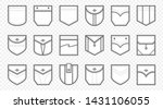 patch pocket. uniform clothes... | Shutterstock .eps vector #1431106055