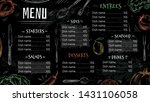 vintage restaurant menu. hand... | Shutterstock .eps vector #1431106058