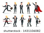 businessman and businesswoman... | Shutterstock .eps vector #1431106082