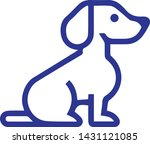 Stock vector dog icon in trendy flat style isolated on white background dog symbol vector illustration 1431121085