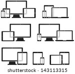 mobile technology and device...   Shutterstock .eps vector #143113315
